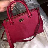 Michael Kors Bags | Michael Kors Red Leather Crossbody Bag | Color: Red | Size: Medium