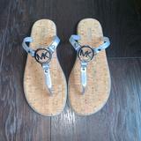 Michael Kors Shoes | Nwot Michael Kors Jet Set Jelly Flip-Flop - Silve | Color: Silver | Size: 8