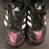 Adidas Shoes   Girls Adidas Soccer Cleats Sz 12   Color: Black/Pink   Size: 12g