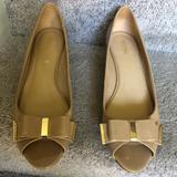 Michael Kors Shoes   Michael Kors Wedge Flats Peep Toe   Color: Gold/Tan   Size: 9.5