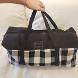 Urban Outfitters Bags | Large Plaid Utilitarian Duffle | Color: Black/Gray | Size: Os