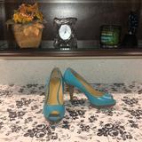Nine West Shoes | Nine West Teal High Heels | Color: Blue/Green | Size: 7.5