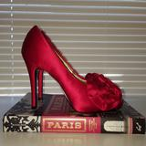 Nine West Shoes   Red Peep Toe Heels   Color: Red   Size: 5.5