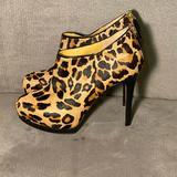 Nine West Shoes | Nine West Stiletto Ankle Boot Cheetah Print Heels | Color: Brown/Tan | Size: 7