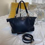 Coach Bags   Coach Leather Crossbody Bag   Color: Black/Gold   Size: L= 11 W=4 H=8