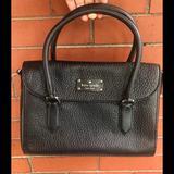 Kate Spade Bags   Kate Spade Pebbled Black Leather Handbag   Color: Black   Size: Os