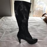 Nine West Shoes   Nine West Platform Knee-High Black Leather Boots   Color: Black   Size: 8