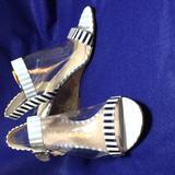 Nine West Shoes | Nine West Sandal Size 7 | Color: Black/Blue | Size: 7