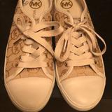 Michael Kors Shoes | Casual Tennis Shoe | Color: Cream/White | Size: 8.5