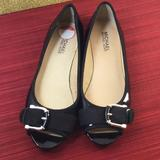 Michael Kors Shoes   Michael Kors Peep Toe Patent Leather Flats S7   Color: Black   Size: 7