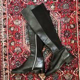 Michael Kors Shoes | Michael Kors Black Leather Boots Sz 6 | Color: Black | Size: 6