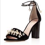Kate Spade Shoes   Kate Spade Embellished Velvet Lace-Up Sandals   Color: Black   Size: 9