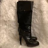 Gucci Shoes | Gucci Black Pony Hair Knee High Black Boots Size 9 | Color: Black | Size: 9