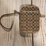 Coach Bags | Coach Phone Holder Or Mini Clutch Purse! | Color: Gold | Size: Os