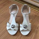 Coach Shoes | Coach Helena Kitten Heel, Cream White Dress Sandal | Color: Cream | Size: 5