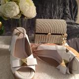 Kate Spade Shoes   Kate Spade New York White Slingback Wedges Sz 7   Color: White   Size: 7
