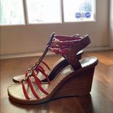 Louis Vuitton Shoes   Louis Vuitton Key West Sandals Sz 36.6 6.5   Color: Brown/Red   Size: 6.5
