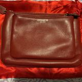 Coach Bags | Coach Genuine Leather Double Zip Clutch | Color: Red | Size: Os
