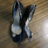 Nine West Shoes   Nine West High Heel Black Satin, Open Toe Sz 11m   Color: Black   Size: 11