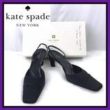 Kate Spade Shoes   Kate Spade Black Satin Closed Toe Slingback Pumps   Color: Black   Size: 7.5