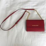 Michael Kors Bags | Nwot - Michael Kors Red Leather Crossbody Bag | Color: Gold/Red | Size: Os