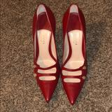 Gucci Shoes | Gucci Red Leather Heels | Color: Red | Size: 8