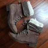 Nine West Shoes   Leather Combat Boots Vintage America   Color: Brown/White   Size: 8
