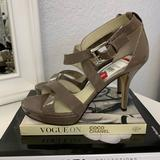 Michael Kors Shoes | Michael Kors Taupe Evie Patent Leather Heels | Color: Brown/Gray | Size: 8