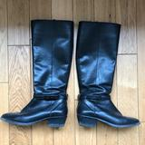 Coach Shoes | Coach Black Leather Knee High Boots | Color: Black | Size: 7