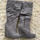 Jessica Simpson Shoes | Jessica Simpson Nya Slouch Wedge Boots Gray | Color: Gray | Size: 7