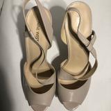 Nine West Shoes | Ninewest Peeptoe Slingbacks | Color: Cream/Tan | Size: Various