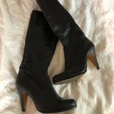 Coach Shoes | Coach Black Leather Knee High Heeled Boots | Color: Black | Size: 8
