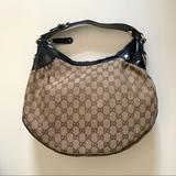 Gucci Bags   Gucci Bag - Beige Canvas With Black Patent Leather   Color: Black/Tan   Size: Os