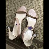Nine West Shoes | Nine West Sandals Cream Color W Ankle Strap 8.5 M | Color: Cream | Size: 8.5