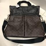 Coach Bags   Nwt Large Coach Leather Crossbody Bag   Color: Black/Brown   Size: Os
