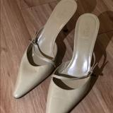 Gucci Shoes | Gucci Heeled Mules | Color: Green/Yellow | Size: 8.5