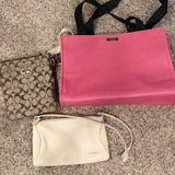 Kate Spade Bags   Handbag Bundlekate Spade, Coach And Fossil   Color: Pink   Size: Os