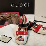 Gucci Shoes   New Authentic Gucci Girl Shoes   Color: Red/White   Size: 24 Euro