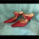 Nine West Shoes   Dark Red Slide Style Heels   Color: Red   Size: 8