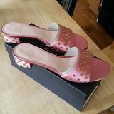 J. Crew Shoes | J Crew Satin Jewel Mule 9.5 New | Color: Pink | Size: 9.5