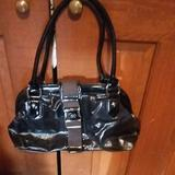Jessica Simpson Bags | Jessica Simpson Seat Belt Buckle Purse | Color: Black/Silver | Size: Os