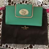 Kate Spade Bags   Kate Spade Aquacove Wallet Credit Card Holder   Color: Cream/Green   Size: 7 34 X 3.5