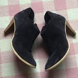 Madewell Shoes | Madewell Italian Blue Suede Ankle Boots | Color: Blue | Size: 8.5