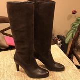 Ralph Lauren Shoes | Dark Brown High-Heeled Boots | Color: Brown | Size: 9