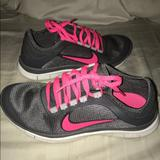 Nike Shoes | Like New Nike Free Running Shoes Sz 8. Grey & Pink | Color: Gray/Pink | Size: 8