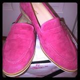 Nine West Shoes | Nine West Pink Suede Loafers | Color: Pink | Size: 9