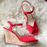 Nine West Shoes   New Peep Toe Wedges   Color: Red/Tan   Size: 9.5