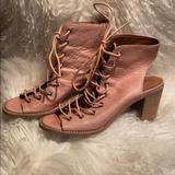Free People Shoes | Jeffrey Campbell Pink Heeled Sandals, 9 | Color: Pink | Size: 9