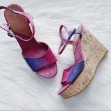 Nine West Shoes   Nine West Platform Cork Wedge Sandal Pink Purple 7   Color: Pink/Purple   Size: 7