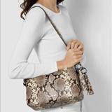 Michael Kors Bags   Michael Kors Grand Shoulder Bag   Color: Silver/Tan   Size: Os